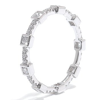 0.59 Round Diamond Eternity Ring 14k Gold