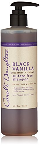 Carols Daughter Black Vanilla Moisture & Shine Sulfate-Free Shampoo, 12 Ounce
