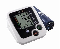 Automatic Portable Upper Arm Blood Pressure Monitor Black/White