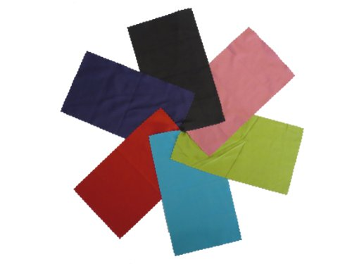 Microfiber Cleaning Cloth For Electronic Devices Such As: Lcd, Tv & Laptop Screens, Camera Lenses, Tablets, Cell Phones (Iphone, Samsung, Blackberry),Binoculars, Telescopes, Glasses, Jewelry, And Other Delicate Surfaces. Perfectly Sized & Compact 6 Pics,