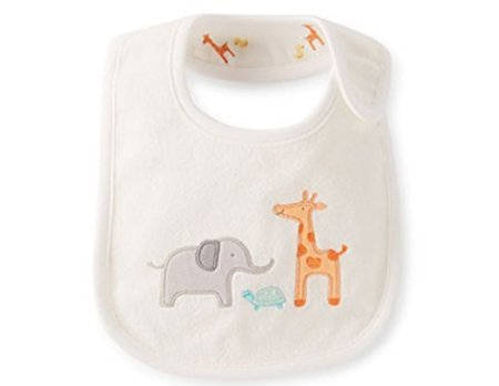 Carter's bib Reversible Elephant Giraffe Animal Teething Feeding