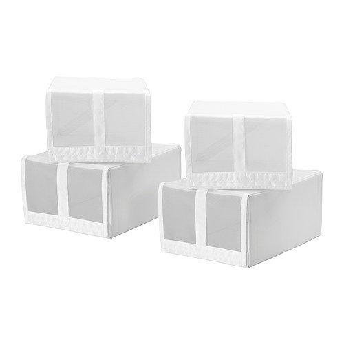 ikea skubb schuh box 4 st ck wei. Black Bedroom Furniture Sets. Home Design Ideas