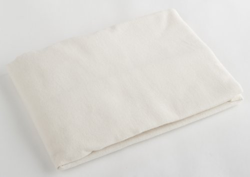 Pram Sheet Flat Cream Flannelette