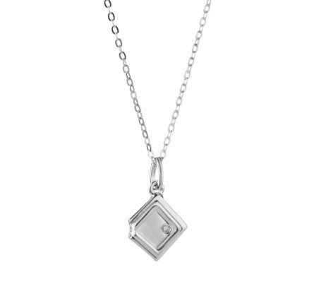 Neoglory Fine Jewelry Square Pendants Necklace Premier Designer 925 Sterling Silver Necklaces for Women 2013 New Arrive