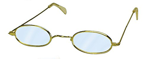 Loftus International Oval Old Granny Costume Glasses, Silver, One Size - 1