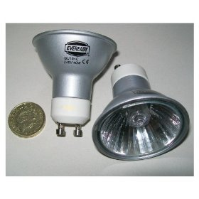 12 x GU10 dimmable 50 watt equivalent halogen energy saving light bulbs. Latest bright eco bulbs.