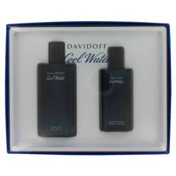 Zino Davidoff Cool Water for Men Gift Set (Eau De Toilette Spray Plus Aftershave Splash) (Cool Water Gift Set compare prices)