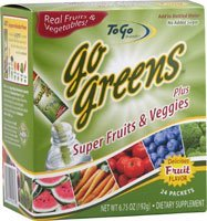 Greens To Go-Superfood Fruit And Veggie Mix, 24 Packs