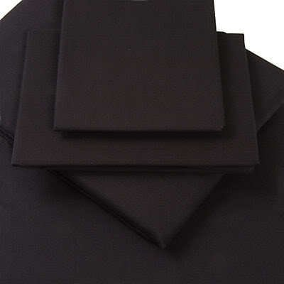 Super King Size, Black, Percale Extra Deep (16