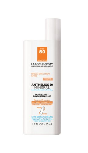 La Roche-Posay La Roche-Posay Anthelios SPF 50 Mineral Ultra-Light Sunscreen Fluid Tinted, 1.7 Fluid Ounce