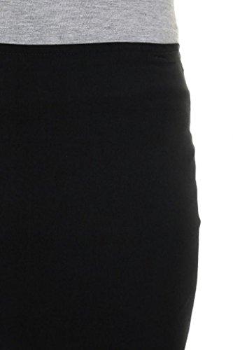 2495-1-Jupe-Crayon-de-Bureau-Noire-Extensible-et-lgante-de-55cm