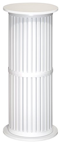 36 Inch Tall X 15.5 Diameter Plastic Display Pedestal (Tall White Pedestal compare prices)