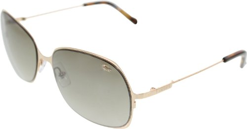 Lacoste L Shiny Gold Rectangular Sunglasses 118S 714