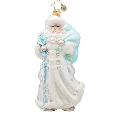 Christopher Radko Winter Breeze Santa Ornament