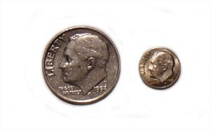 Mini Coin - 10 Cent Piece (Dime)