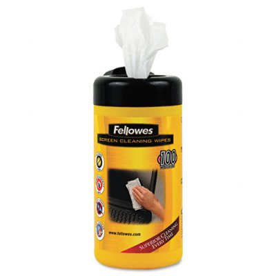 Screen Cleaning Premoistened Wipes - 5 x 7, 100 per Tub(sold in packs of 3)