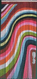 Color Art Waves Beaded Curtain 125 Strands Hanging Hardware Curtain Store
