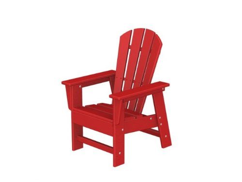 Recycled Venice Beach Outdoor Patio Kid's Adirondack Chair - Candy Apple Red
