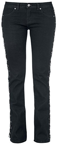 Rock Rebel by EMP Laced Grace (Boot-Cut) Jeans donna nero W35L34
