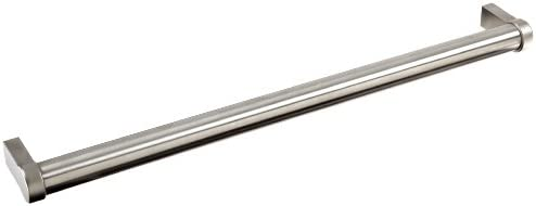 Stainless Steel Metric Pull Handle with Threaded Holes Round Grip Matte Finish 250mm Center-to-Cente