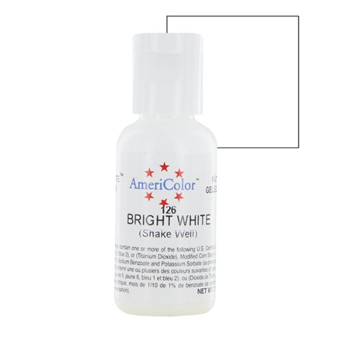 Amazon.com: Americolor Soft Gel Paste .75 oz. - Bright White: Kitchen & Dining