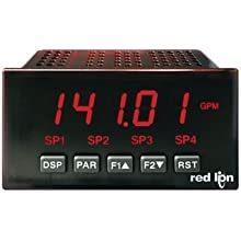 Red Lion PAXLIT PAX Lite Current Panel Meter, 3-1/2 Digit LED Display, 0 to 5 amps, 115/230 VAC Input Voltage, 50/60 Hz
