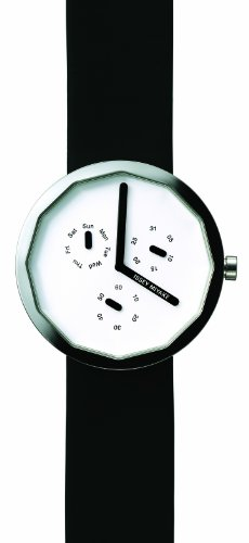 Issey Miyake Unisex Twelve Watch IM-SILAP007 With Black Leather Strap