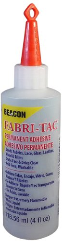 Beacon Fabri-Tac Permanent Adhesive, 4-Ounce