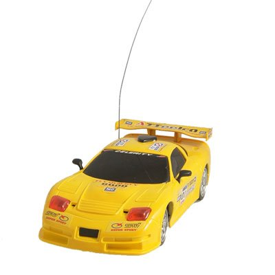 Children Red Headlight RC 4WD Truck 1:24 Scale Racing Car Toy Yellow