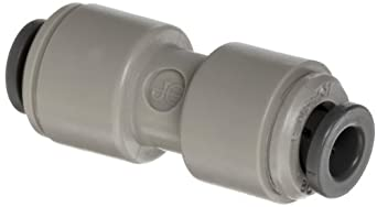 Celcon Push-to-Connect Tube Fitting, Acetal Copolymer, Reducing Coupler, Tube OD x Tube OD