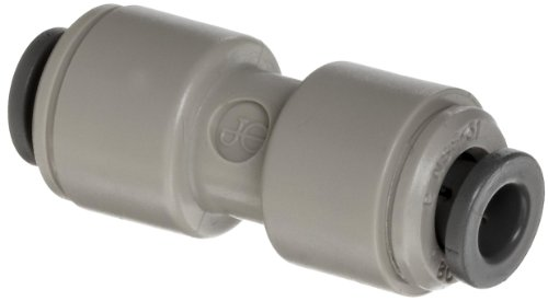 "Celcon Push-to-Connect Tube Fitting, Acetal Copolymer, Reducing Coupler, 5/16"" Tube OD x 1/4"" Tube OD"