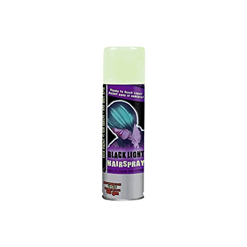 Blinkee Holiday Seasonal Decorative Temporary Colored Hair Spray Black Light (Black Light Hairspray)
