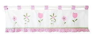 My Baby Sam Curtain Valance, Ticked Pink