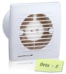 Amaryllis Bathroom Exhaust Fan 5 Inch Beta - 5 White/Ivory