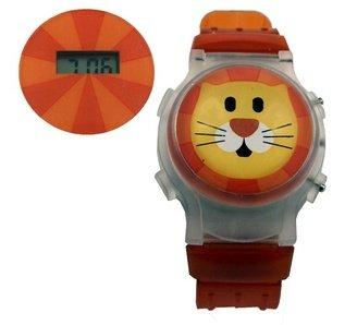 Streamline Cat Flip Top Watch