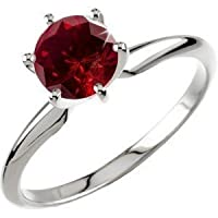 PARIKHS Round Cut Solitaire Red Diamond Engagement Ring in 14k White Gold (0.60 ctw, Red, I1 clarity) from PARIKHS