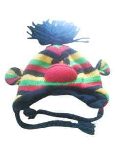 Rasta Sock Monkey Pom Pom Hat
