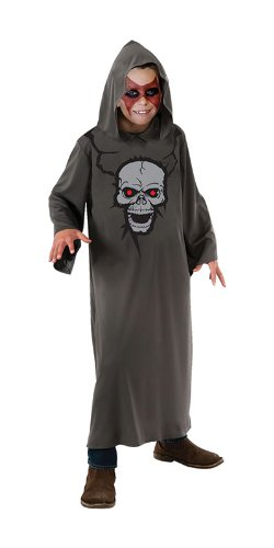 Bristol Novelty Grey Hooded Robe Skull Print 11-14 Yrs Costume Boy's 11-14 Yrs