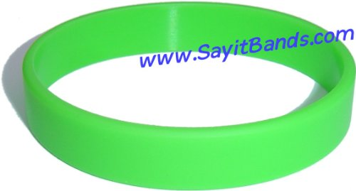 Child Size Light Green Wristband for Kid One Silicone Bracelet