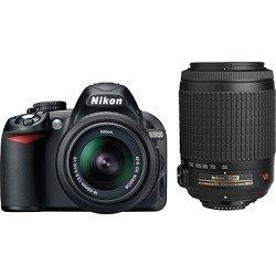 Nikon D3100 14.2MP Digital SLR Camera with 18-55mm f/3.5-5.6 VR & 55-200mm f/4-5.6G IF-ED AF-S DX VR Nikkor Zoom Lenses
