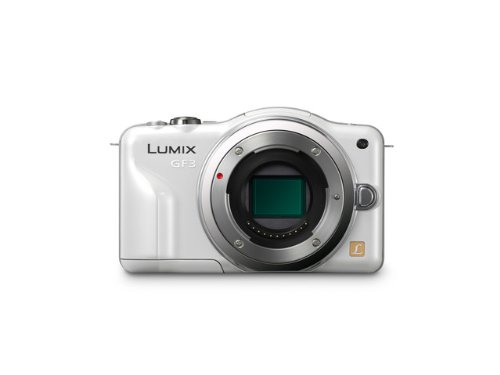 Panasonic Lumix DMC-GF3 12.1MP Compact System Camera Kit with 14mm Lumix G f/2.5 ASPH Lens - White