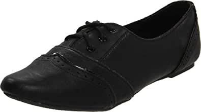 Not Rated Women's Drum Roll Oxford,Black,6 M US
