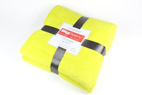 BigBeany flauschige Premium-Kuschel-Decke, Mikrofaser in Grün