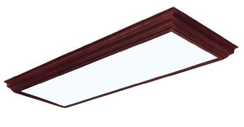 Lighting by AFX CCM432R8 Winchester Crown Molding Wood Frame 4-Lamp Fixture, Cherry Finish with Smooth White Acrylic Diffuser