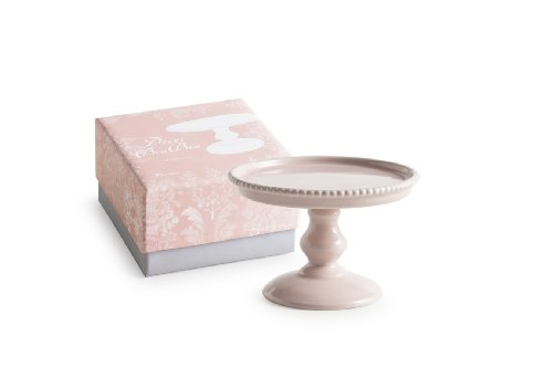 Rosanna 88970 Décor Bon Bon Hue Beaded Pedestal, Small, Pink (Milk Glass Pedestal Bowl compare prices)