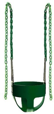 "Swing Baby Toddler S-26R Full Bucket Seat Swingwith Coated Chain 66"" Inch, Blue Seat+Chain back-214360"