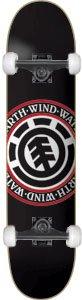 Element Seal Black Complete Skateboard - 8.5 w/Essential Trucks (Element Trucks compare prices)