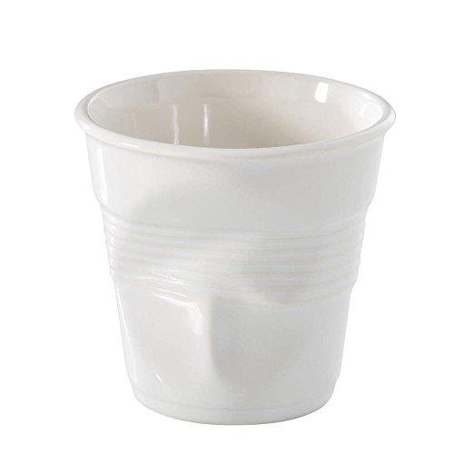 Revol - Verre Froissé En Porcelaine - Couleur : Blanc - Size : 12Cl