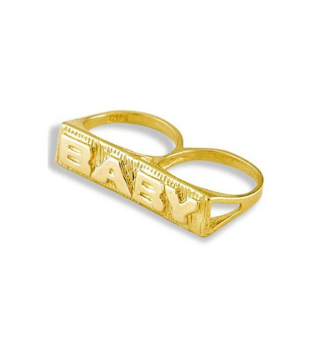 New Solid 14k Yellow Gold Baby Child Kids Knuckle Ring