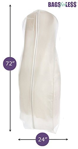 Brand New White Breathable Wedding Gown Dress Garment Bag By BAGS FOR LESSTM (Garment Wedding Dress Bag compare prices)